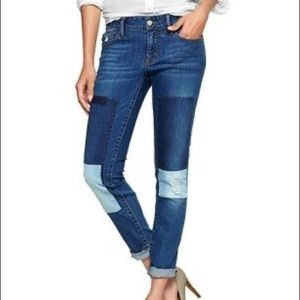 GAP 1969 Alway Skinny Jeans Patches 25 Petite Blue